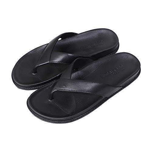 N/A 10 Yards / 27cm schwarz große Füße Neue Flip-Flops Sommer Männerschuhe tragen rutschfeste Badeschuhe breite Füße Schuhe