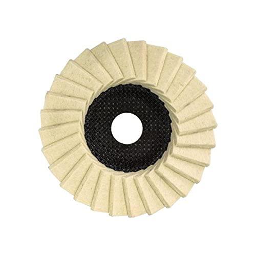 Disque de polissage 125 mm pour meuleuse d'angle, feutre et rondelle dentelée