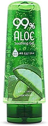 ETUDE HOUSE 99 Aloe Soothing Gel 250ml Korean Skin Care 5 in 1 formula Ultra moisturizer eye product image