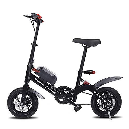 QX Mini Bicicleta Eléctrica Plegable de la Vespa, Ciclomotor Eléctrico, Vespa Eléctrica de la Batería de Litio para Adultos
