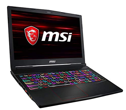 MSI GE63 9SF-621 Raider (39,6 cm/15,6 Zoll/144Hz) Gaming-Notebook (Intel Core i7-9750H, 16GB RAM, 512GB PCIe SSD + 1TB HDD,  Nvidia GeForce RTX2070 8GB, Windows 10 Home)