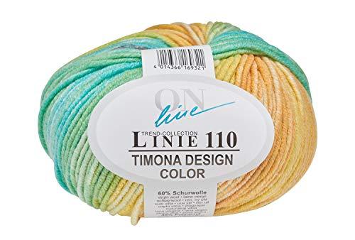 Online Wolle Trend-Collection Linie 110 Timona Design Color 50g Garn 60% Schurwolle Strickgarn Häckelgarn Farbe 301