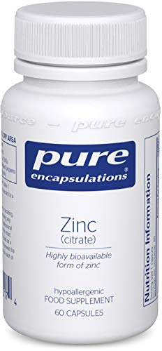 Pure Encapsulations - Zinc (Citrate) 30mg - Highly Bioavailable Zinc Supplement for Immune & Metabolism Support - 60 Vegetarian Capsules