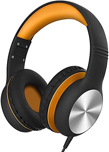 Kinder Kopfhörer mit Mikrofon, Kinder Kopfhörer mit 94dB Lautstärkebegrenzung, 2 in 1 Sharing-Funktion, Faltbar, Einstellbar, Leicht, für PC/Handy/Laptop/Kindle/Online-Kurs/Reise