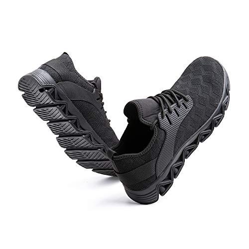 Zapatos de Seguridad Hombre Mujer Trabajo Ligeras Calzado de Seguridad Deportivo Comodo con Punta de Acero C Negro 44 EU