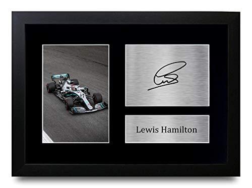 HWC Trading Lewis Hamilton A4 Gerahmte Signiert Gedruckt Autogramme Bild Druck-Fotoanzeige Geschenk Für F1 Formel Eins Fans