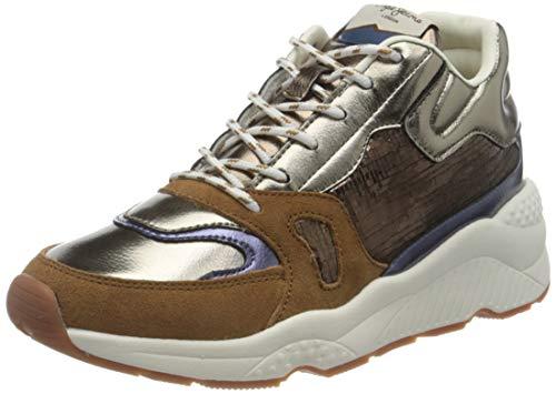 Pepe Jeans London Harlow Space Zapatillas para Mujer , Marrón ( 879COGNAC ) , 38 EU