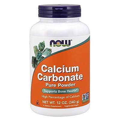 Now Foods Calcium Carbonate, Pure Powder, 340 g