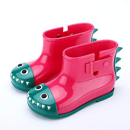Giow Botas De Lluvia para Niños, Zapatos para Bebés Antideslizantes Hombres Y Mujeres Cocodrilos,Red,22