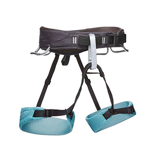 Black Diamond Womens Momentum Climbing Harness, Caspian, Small