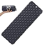 Pasanava Gray Large Size 77 In Camping Sleeping Pad with Eye Mask, Ultralight Inflatable Compact Sleeping Air Mat Comfortable For Hiking Backpacking other Outdoor Activitys