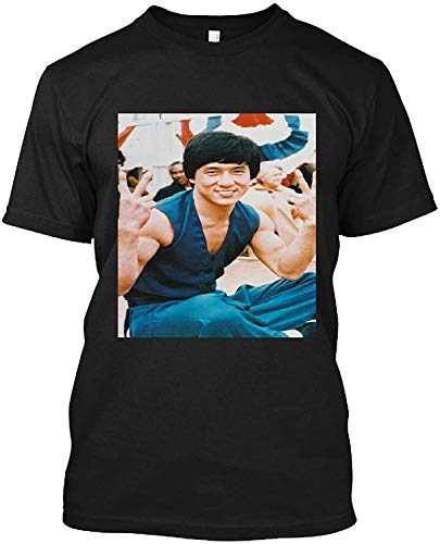 #Jackie #Chan #Cool #Pose #Doing Victorypeace Sign T Shirt Gift Tee For Men Women Design Shirts Soft Women Unique Tees Art Tee 80S Cheap Design Customize Trending Shirt