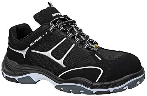 ELTEN Sicherheitsschuhe MOTION Low ESD S2, Herren, sportlich, leicht, schwarz, Kunststoffkappe - Größe 45