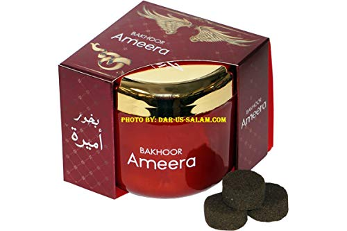 Hamidi Bakhoor Ameera 70 gm Incense by Hamidi Home Fragrance Natural Hand Dipped Best Wood Scent Use with Incense Burner - Not Included