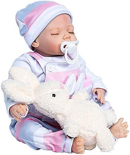 Hongge Reborn Baby Doll, Reborn Babypuppe Handmade Schlaf Silikon Vinyl Lebensechte Babypuppe 45cm