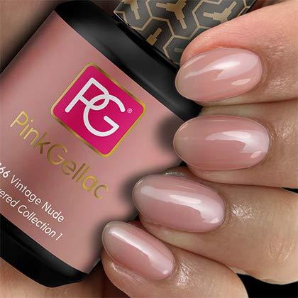 Pink Gellac Shellac Gel Nagellack 15 ml für UV LED Lampe | 166 Vintage Nude Rosa Rose | Gel Nail Polish for UV Nail Lamp | LED Nagel Lack Gellack Nagelgel