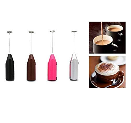 Duyifan Espumador de Leche de Mano, Licuadora de Espuma Manual Eléctrica para Batidora de Bebidas, Café a Prueba de Balas, Matcha, Chocolate Caliente (Funciona con Pilas)