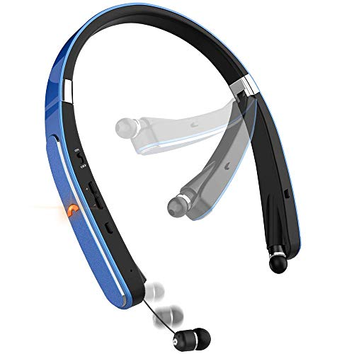 Bluetooth Headset, Bluetooth Headphones-LBell 30 Hrs Playtime Wireless Neckband Design W/Foldable...