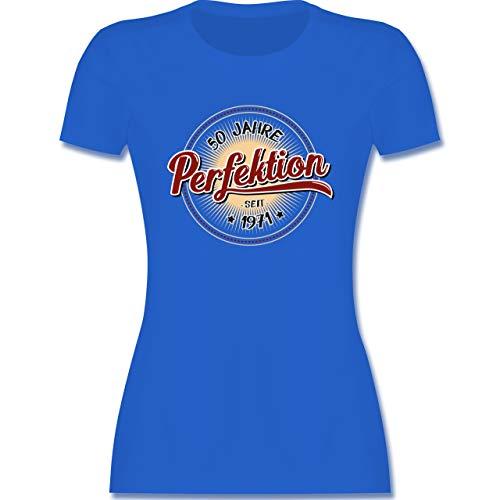 Geburtstag - 50 Jahre Perfektion seit 1971 - L - Royalblau - Tshirt 1969 - L191 - Tailliertes Tshirt für Damen und Frauen T-Shirt