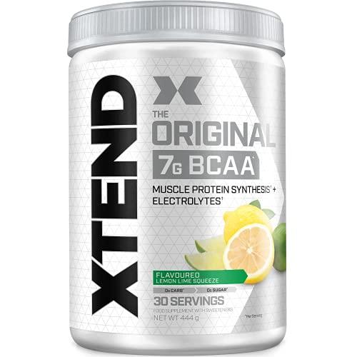 XTEND Original - Suplemento de BCAA en polvo - Lima-limón   Aminoácidos de cadena ramificada   7g de BCAA con electrolitos para una mayor hidratación y recuperación   30 raciones