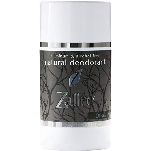 Zaffre Natural Deodorant for Women and Men, Aluminum Free Clean Cruelty-Free Beauty | Vegan Underarm Deoderant, Alcohol Free & Paraben Free, 3.2 oz - Fragrance: Denim Stone