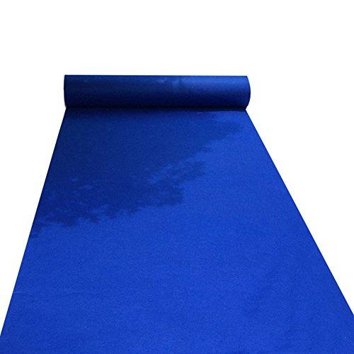 WENZHE Alfombras Y Moqueta Moquetas Esterillas Desechable Boda Celebracion Tema Azul Escenario Antideslizante Resistente Al Desgaste, 3 Colores, Espesor 2 Mm, 4 Anchos (Color : B, Tamaño : 1m×10m)