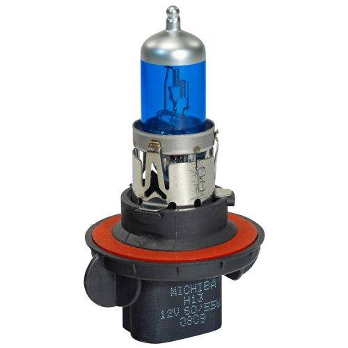 Michiba DW H13 Ampoules Halogène 60-55W/12 V/4800K, Super White Bleu, 2 Pièces