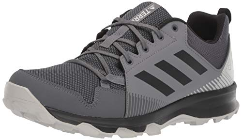 adidas outdoor Men's Terrex Tracerocker GTX Trail Running Shoe, Grey Five/Black/Grey Four, 6 D US