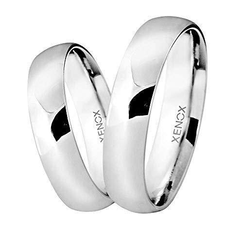 Xenox Silber Sterling 925 Unisex Partner Freundschaft Ring - Xenox and Friends XS9103, Ringgröße (Durchmesser):52 (16.6 mm Ø)