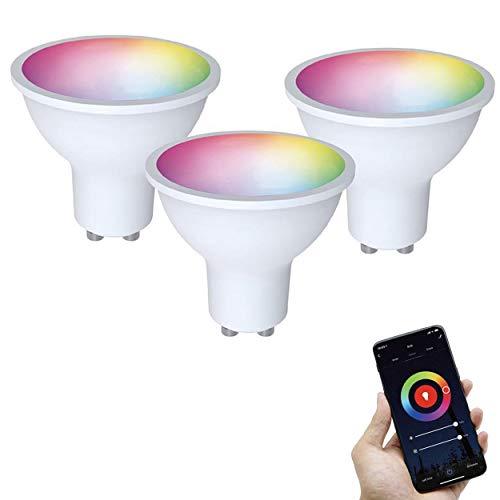 FlinQ GU10 Smart Lampe 3er-Pack Smart Glühbirne   Smart Led Lampe   WLAN Smart Bulb Kompatibel mit Alexa und Google Assistant   Smart Home Lampe mit App für Android und iOS   Energieklasse A+
