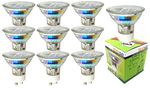Trango Lot von 6 Einbaustrahler in Edelstahl rundes Aussehen TG6729-062 Badezimmer I WC Einbauleuchten, Deckenstrahler, Einbauleuchten, Deckenleuchte mit 6 Keramikfassungen GU10