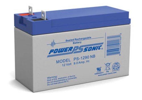 Genuine Power-Sonic PS-1290NB 12V 9AH Rechargeable SLA Battery Replaces Generac 0G9449