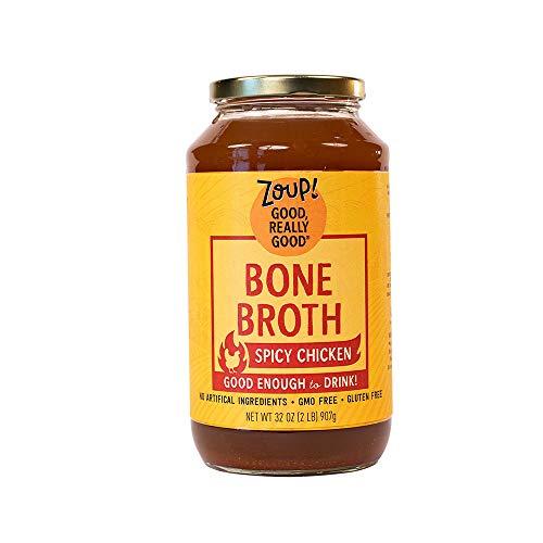 Spicy Chicken Bone Broth by Zoup! - Gluten Free, Non GMO, Fat Free Spicy Chicken Bone Broth (1-Pack)