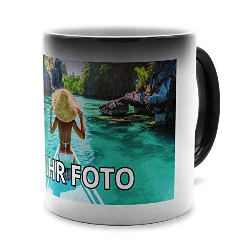 printplanet® - Zaubertasse mit Foto Bedrucken Lassen - Magic Mug Personalisieren – Fototasse Zauberbecher selbst gestalten
