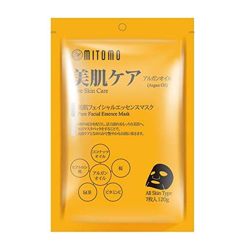MITOMO 【MT101-C-5】Facial Face Mask Paper Sheet Japan Skin Care Cleansing Moisturizing Whitening Nourishing Pure Essence Mask Nature made Freshly packed Japan Face Mask 【7 pieces】