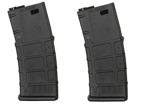 WG ZWEIERPACK - Polymer MID-Cap Magazin für M4 / AR-15, Schwarz/DE TAN - Vorteilspack/Zweierpack… (Schwarz)