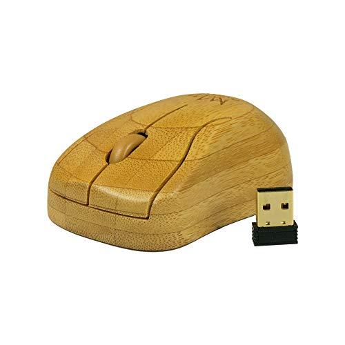 Bamboo King – Mouse ottico in bambù | Connessione wireless | # bambù invece di plastica | Bluetooth | fatto a mano | Il colore può variare leggermente dall'immagine in quanto è un prodotto naturale