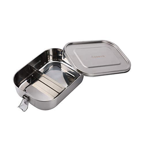 Accevo Bento Box, 1400ML Lunchbox Erwachsene, Auslaufsichere Brotdose Edelstahl, Lunchbox Brotbox Vesperdose Brotbüchse Brotzeitbox