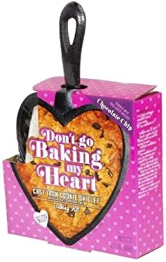Don't go Baking my Heart Cast Iron Cookie Heart Shaped Skillet Baking Kit