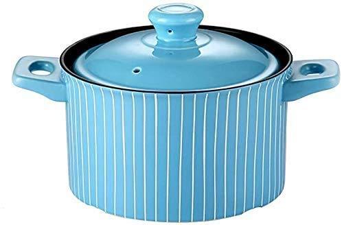 KaiKai Casserole Herd Haushalts Keramik Suppe Porridge Pot Reiskocher Gasherd Spezielle Brandhitzebeständige Gas Casserole Feuer Hochtemperaturgassteintopf (Größe: 2,5 l) FEOPW
