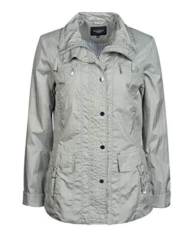Bexleys Woman by Adler Mode Damen Jacke mit Crinkle-Effekt und gestreiftem Futter in Kurzgrößen Mint 19