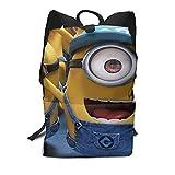 Des-picable Me - Mochila para portátil con mochila para mujer y hombre, estilo vintage, mochila universitaria, bolsa de viaje
