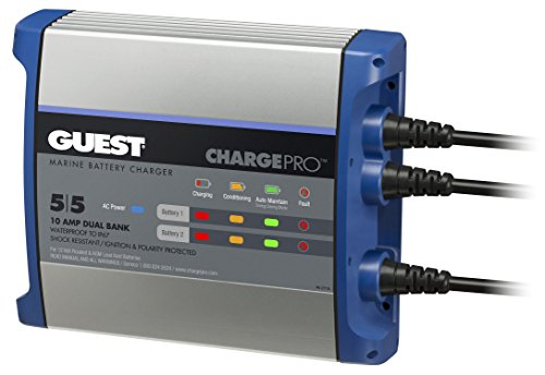 Guest On-Board Battery Charger 10A / 12V; 2 Bank; 120V Input, 2711A