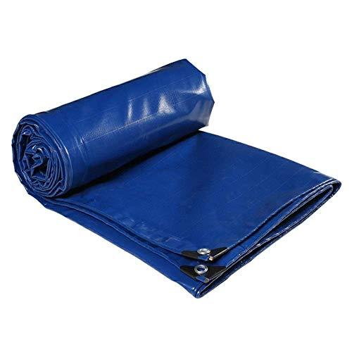 Lona resistente azul – Lona resistente al agua con ojales para cubrir muebles de jardín, camping, cubierta de techo y mucho más – 550 g metro cuadrado – 3 x 6 m