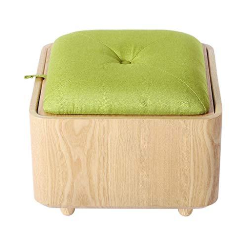 Hoogwaardige comfortabele kruk | klein meubelstuk voor tafel, kruk voor het wisselen van schoenen van hout, gevoerde voetensteun, van linnenstof, make-upbekleding, gangkruk | liv