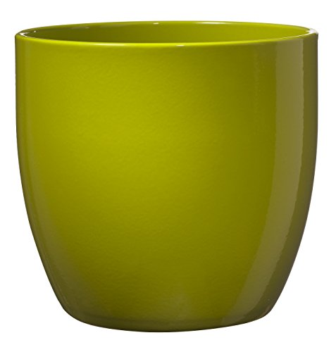 Soendgen Cache-Pot en céramique Dover, Basel Full Color, Argile, Citron Vert, 14 x 14 x 13 cm