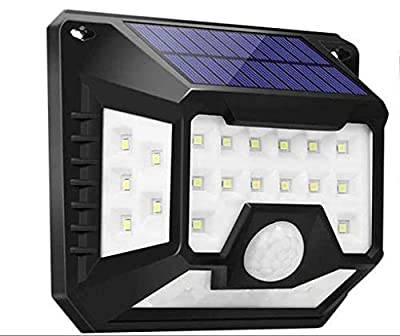 Solar Security Lights Head Motion Sensor Light Adjustable Flood Lights Outdoor Spotlights 270° IP65 Waterproof for Porch Garden Patio Yard Garage Pathway