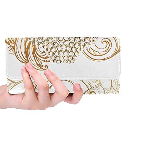 Rfid Blocking Purse Men Long Leather Wallet Ancient Colorful Sacred Art Buddha Card Holder Wallet Women Trifold Leather Wallet Long Thin Credit Card Holder Case Handbag