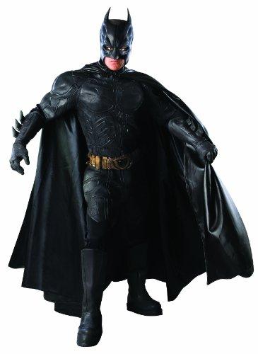 Batman: The Dark Knight Deluxe Grand Heritage Collection Costume, Black, Medium