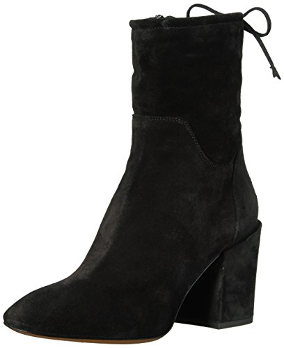 Aquatalia Women's Floria Suede Ankle Boot, Black, 9 M US